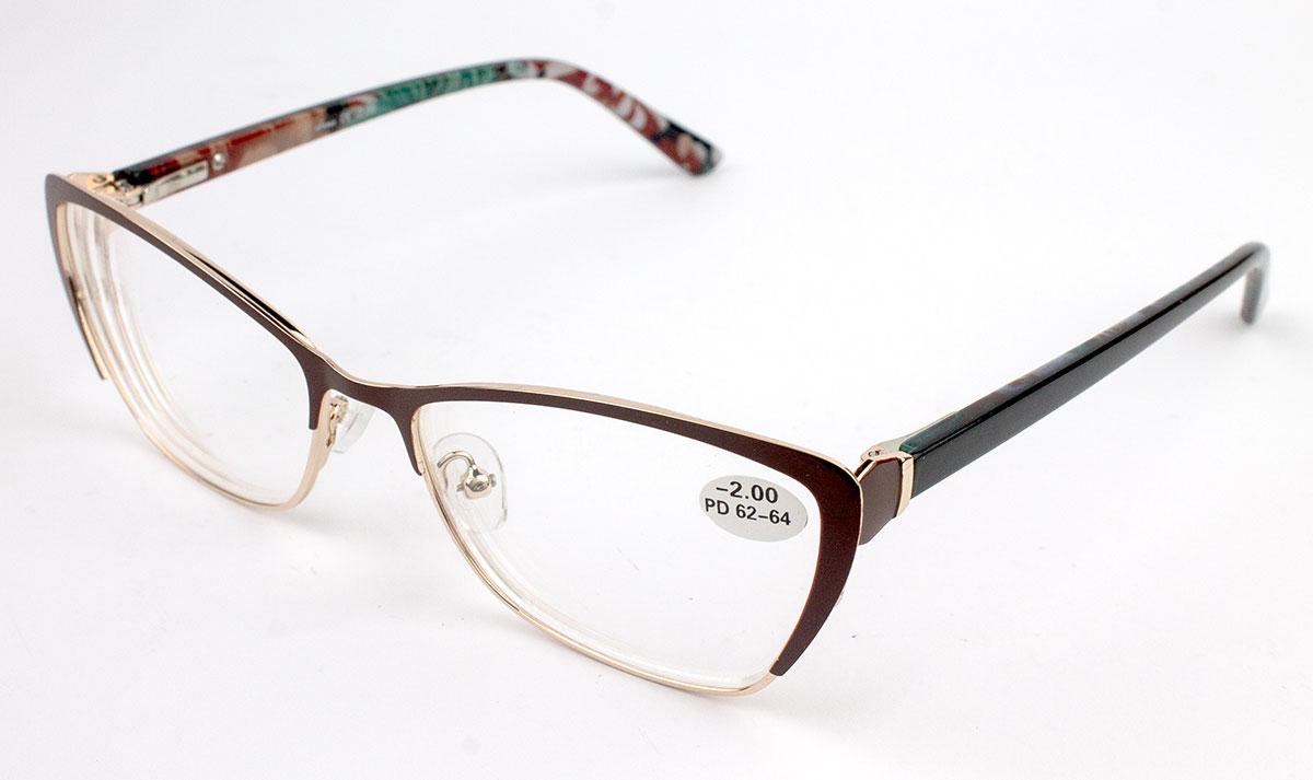 женские готовые очки в металле